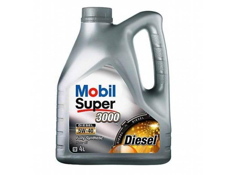 Mobil Super 3000 Х1 Diesel, 5W40, 4л Масло моторное синтетическое