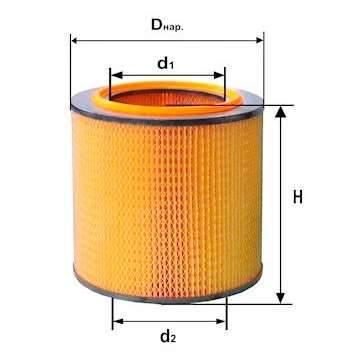 Фильтр воздушный DIFA 4302М