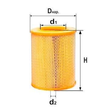 Фильтр воздушный DIFA 4308
