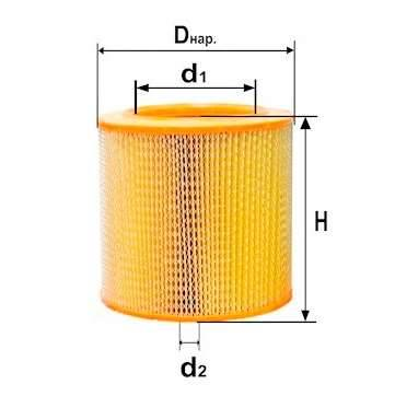 Фильтр воздушный DIFA 4309