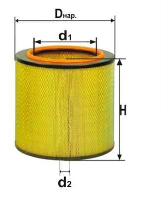 Фильтр воздушный DIFA 4309М