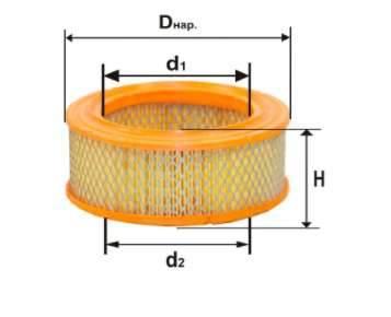 Фильтр воздушный DIFA 4329