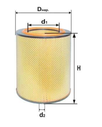 Фильтр воздушный DIFA 4331М