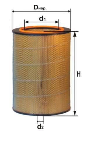 Фильтр воздушный DIFA 4341М