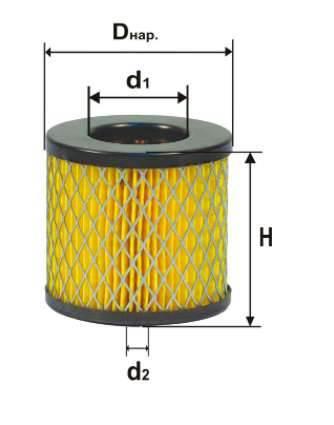 Фильтр воздушный DIFA 4347М