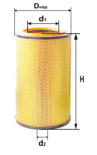 Фильтр воздушный DIFA 4354М