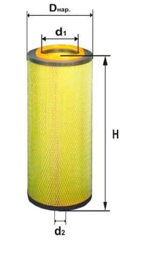 Фильтр воздушный DIFA 4367М