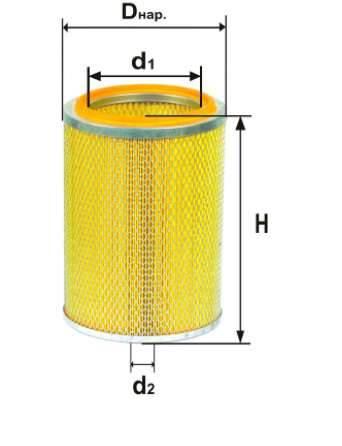 Фильтр воздушный DIFA 4368М