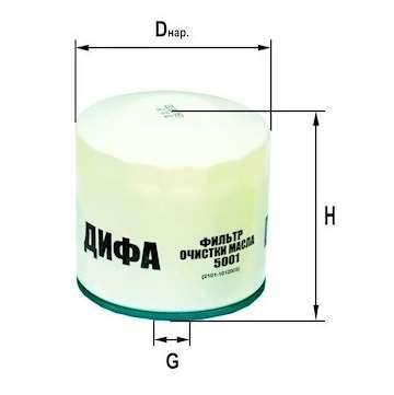 Фильтр масляный DIFA 5001
