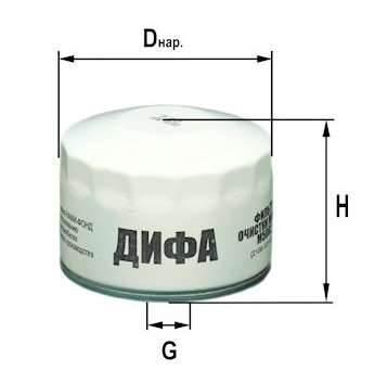 Фильтр масляный DIFA 5002