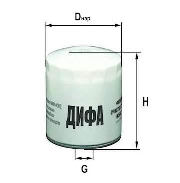Фильтр масляный DIFA 5003