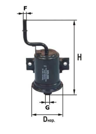 Фильтр топливный 6006