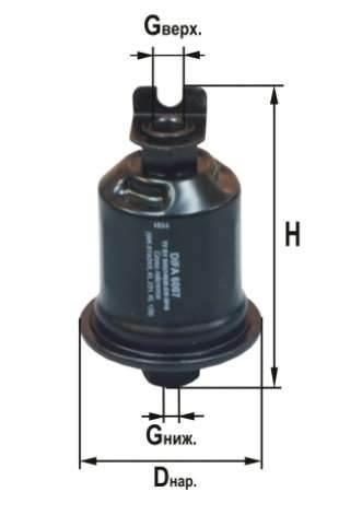 Фильтр топливный 6007
