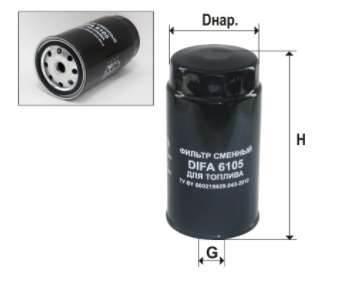 Фильтр топливный 6105К