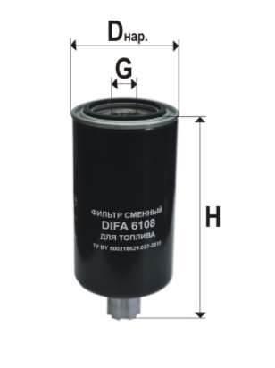 Фильтр топливный 6108