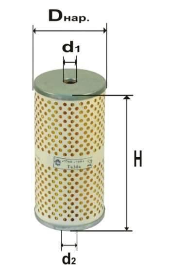 Фильтр топливный 6304